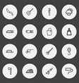 set of 16 editable equipment outline icons vector image vector image