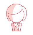 shadow faceless cute little girl cartoon vector image vector image