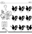 shadow game with pirates coloring book vector image vector image