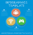 Social Network Infographic Template Color Hand vector image