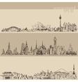 Sydney Bangkok Tokyo Hand Drawn vector image