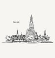 thai culture concept with han draw sketch temple vector image vector image