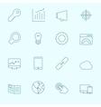 Thin SEO Icons vector image vector image