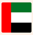 united arab emirates square flag button social vector image