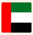 United arab emirates square flag button social