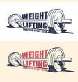 weightlifting athleticism vintage emblem vector image