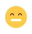 yellow cartoon face sad upset emoji people emotion vector image vector image