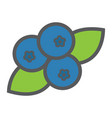 blueberry line icon fruit and diet vector image