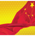 China flag in the wind of win gold sky vector image