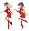 Christmas Elf Girl3 vector image