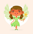 little girl child character princess suit vector image