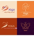 Logo template yoga studio Image design for vector image