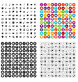 100 music festival icons set variant vector image vector image