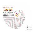 2018 calendar templatespiral calendarcalendar vector image