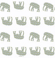 abstract elephant seamless pattern it is located vector image vector image