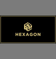 Af hexagon logo design inspiration
