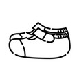 baby shoes icon design clip art line icon vector image
