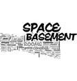 basement ideas text word cloud concept vector image vector image