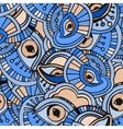 Blue eyes pattern vector image