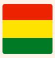 bolivia square flag button social media vector image vector image