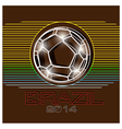 Brazil football 2014 vector image