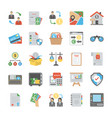 business flat icons bundle vector image