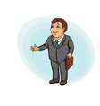 Businessman with briefcase vector image