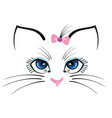 cat with blue eyes vector image vector image