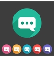 chat speech bubble flat icon vector image vector image