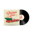 christmas music playlist cover art vector image vector image
