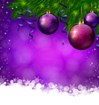 Christmas violete background vector image vector image