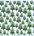 christmas winter forest landscape seamless vector image