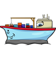 container ship cartoon character vector image