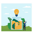 crowdfunding concept in flat design vector image vector image