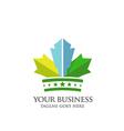 crown of Maple Leaf logo vector image