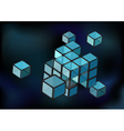 cube construction vector image
