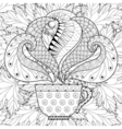 cup tea with steam on fall vector image