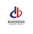 db letter logo design vector image vector image