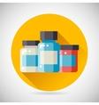 Drug Cure Medicine Box Vial Bottle Jar Icon heal vector image
