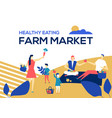 farm market - flat design style colorful vector image