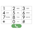 flat keypad for phone vector image vector image