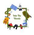flat style camping vector image