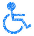 handicapped grunge icon vector image vector image