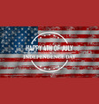 happy independence day flag usa vector image