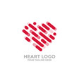 heart logo heart line icons for your design vector image vector image