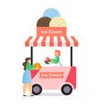 ice cream truck business flat vector image
