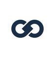 infinity letter g logo icon design vector image
