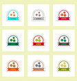 label icon on design sticker collection vector image vector image