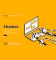 landing page chatbot service vector image