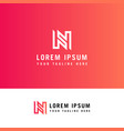 letter n monogram modern thin line graphic design vector image